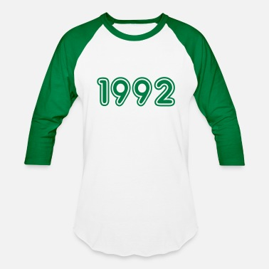 Year Of Birth 1992, Numbers, Year, Year Of Birth - Baseball T-Shirt