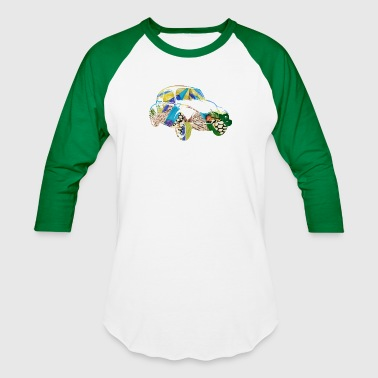 Car Collages artTS collage art BUG with BEETLE - Baseball T-Shirt
