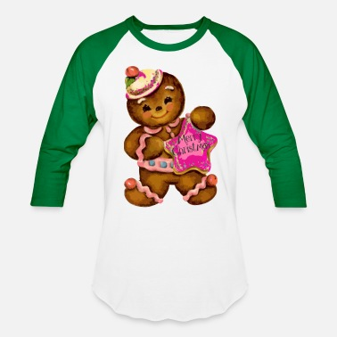 Gingerbread Girl Gingerbread Girl - Baseball T-Shirt