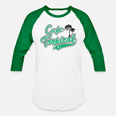 Cafe Cafe Tropical Raglan Shirt - Schitts Creek David - Unisex Baseball T-Shirt