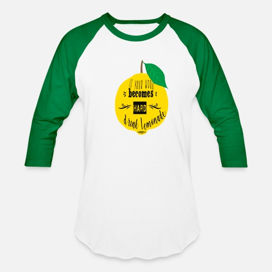Hardstyle T-Shirts - Lemonade - Unisex Baseball T-Shirt white/kelly green