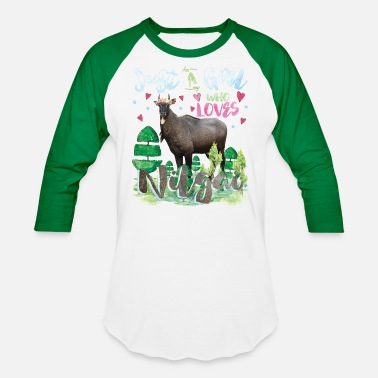 Girlish Just A Girl Who Loves Nilgai - Unisex Baseball T-Shirt