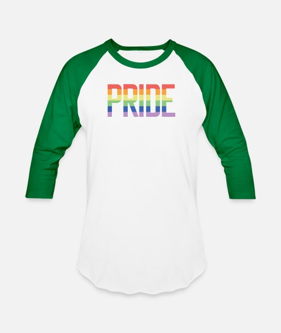 Love T-Shirts - Pride same sex colorful present lesbian gay - Unisex Baseball T-Shirt white/kelly green