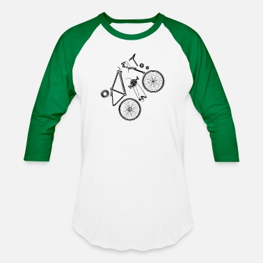 830384d7 Bicycle Mechanic Funny Funny Bicycle Parts Bike Cycling Cycle Club Gift -  Unisex Baseball T-