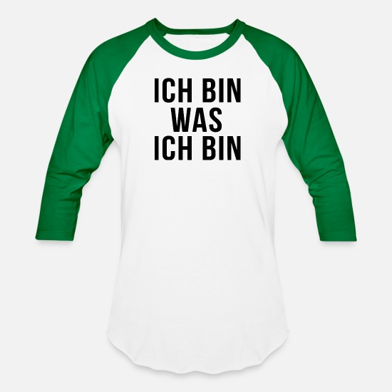 Gay Pride T-Shirts - ich bin was ich bin - Unisex Baseball T-Shirt white/kelly green