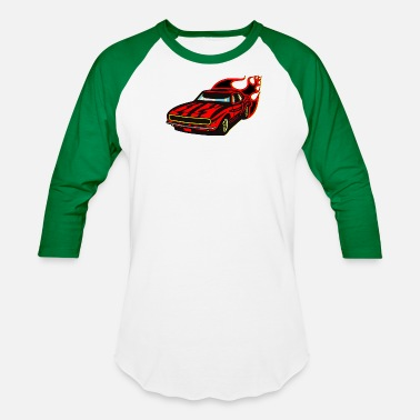 Race Car racing car - Unisex Baseball T-Shirt