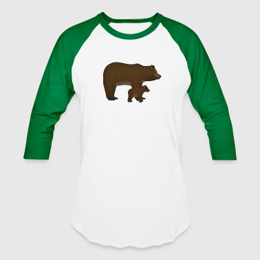 mother bear and baby - Baseball T-Shirt