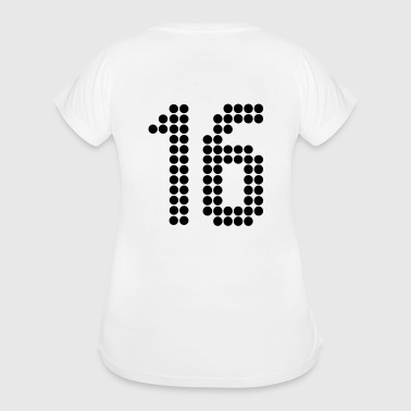 16, Numbers, Football Numbers, Jersey Numbers - Women's Maternity T-Shirt