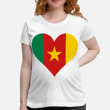 Republic Of Cameroon A heart for Cameroon - Women's Maternity T-Shirt