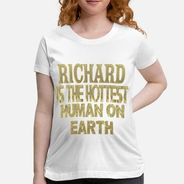 Richard Present Richard - Women's Maternity T-Shirt