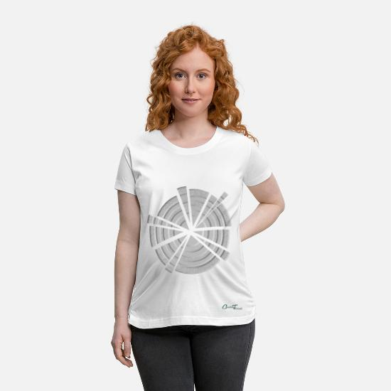 Pattern T-Shirts - Pattern-Shattered - Maternity T-Shirt white