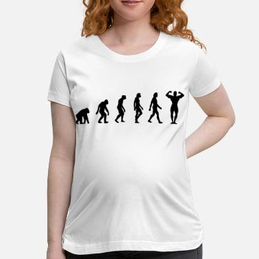 Muscle Elements The Evolution of Bodybuilding - Women's Maternity T-Shirt