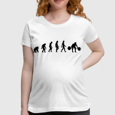 The Evolution of Weightlifting - Women's Maternity T-Shirt