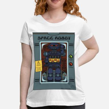 Robot Toy Space Robot Box Toy - Maternity T-Shirt