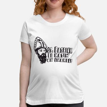 Crawl Snake Funny St Patrick Be Hatin' On Snakes Design - Maternity T-Shirt