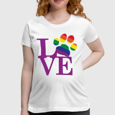 Gay Paw Print Love-Gay-Pawprint-Purple- - Women's Maternity T-Shirt