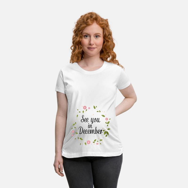 Baby T-Shirts - See You In December - Maternity T-Shirt white