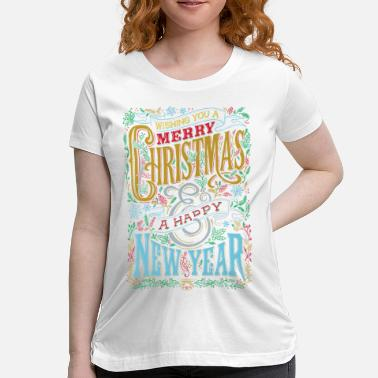 Merry Christmas Happy Holidaze - Maternity T-Shirt