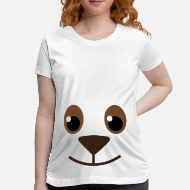 Cute-dog-face-baby-toddler-shirts... Animal Face Cute Kids Fun - Maternity T-Shirt