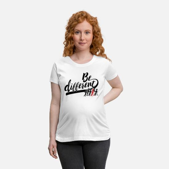 Anders T-Shirts - be different - Maternity T-Shirt white