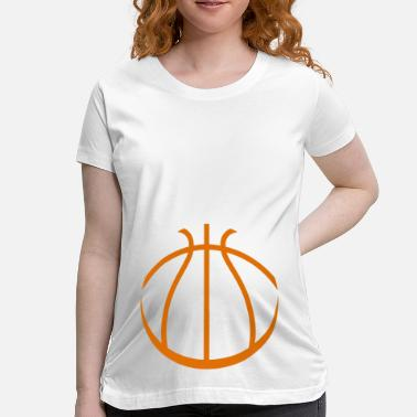 Cute Basketball Basketball - Women's Maternity T-Shirt