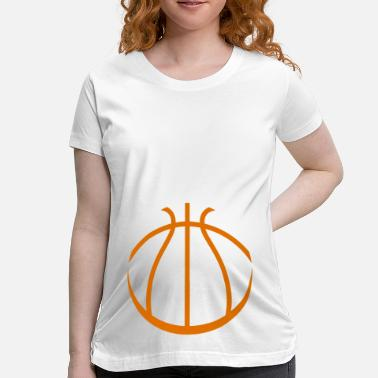 Cute Basketball - Maternity T-Shirt