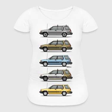 Stack Of Mark's Toyota Tercel Al25 Wagons - Women's Maternity T-Shirt