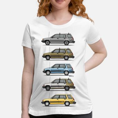 Dlx Stack Of Mark's Toyota Tercel Al25 Wagons - Women's Maternity T-Shirt