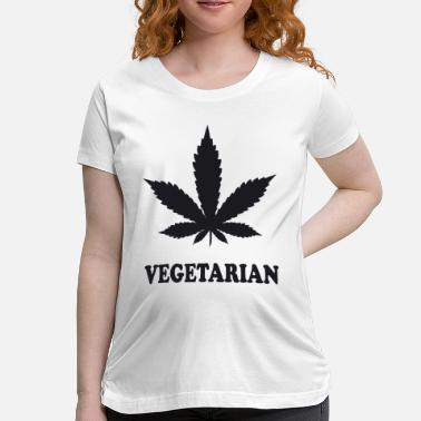Smike Weed Vegetarian - Women's Maternity T-Shirt