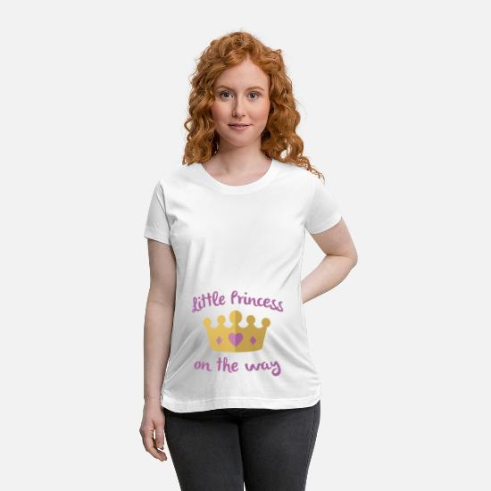 Pregnancy T-Shirts - Little Princess On The Way - Maternity T-Shirt white