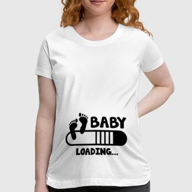 Baby In Progress Baby Loading - Women's Maternity T-Shirt