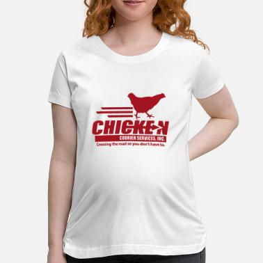 Courier Chicken Courier Services - Maternity T-Shirt