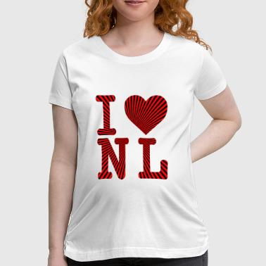 Funny Whiskey Rum Screech I HEART NL RAYS - Women's Maternity T-Shirt