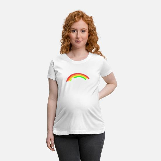 Rainbow T-Shirts - Believe in Yourself - Maternity T-Shirt white