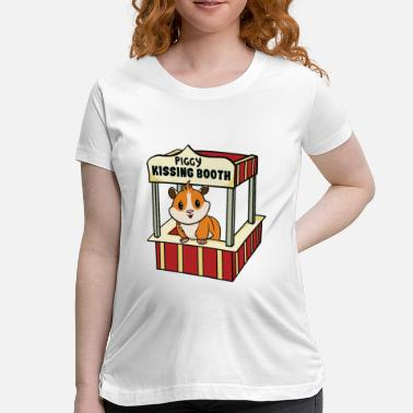Booth Guinea Pig Kissing Booth - Maternity T-Shirt