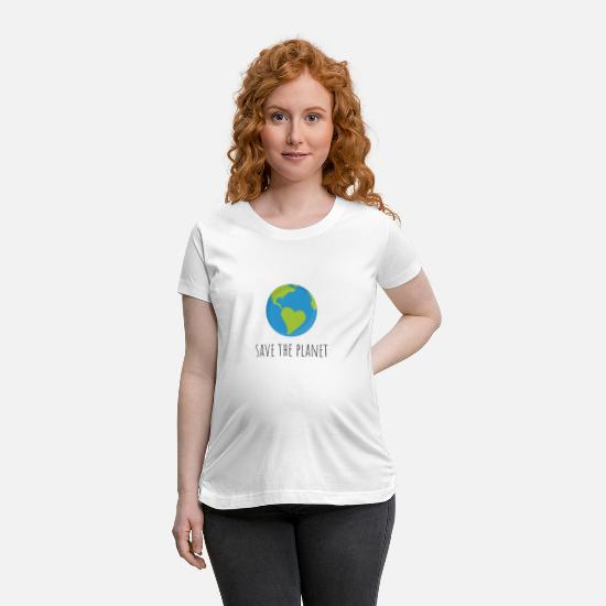 Planet T-Shirts - save the planet - Maternity T-Shirt white