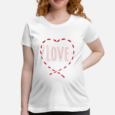 Pattern Love Pattern dash pattern - Maternity T-Shirt