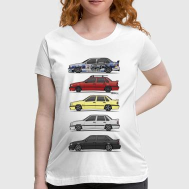 Stack of Volvo 850R 854R T5-R - Women's Maternity T-Shirt