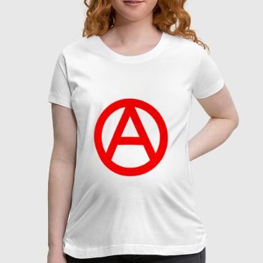 Anarchy Sign The Anarchy A Symbol  Anarchy Anarchist Logo red - Women's Maternity T-Shirt