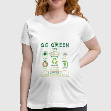 Go Green Tips T-shirt - Women's Maternity T-Shirt