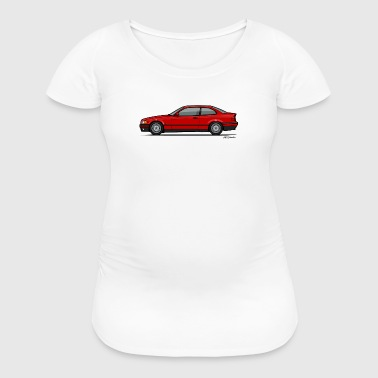 Red Bavarian 3-Series E36 Coupe - Women's Maternity T-Shirt