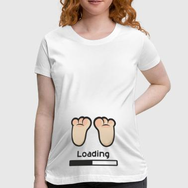 Baby In Progress Loading - Women's Maternity T-Shirt