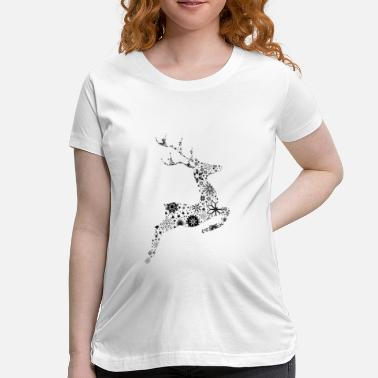 Reindeer Reindeer ice crystals and snow stars - Women's Maternity T-Shirt