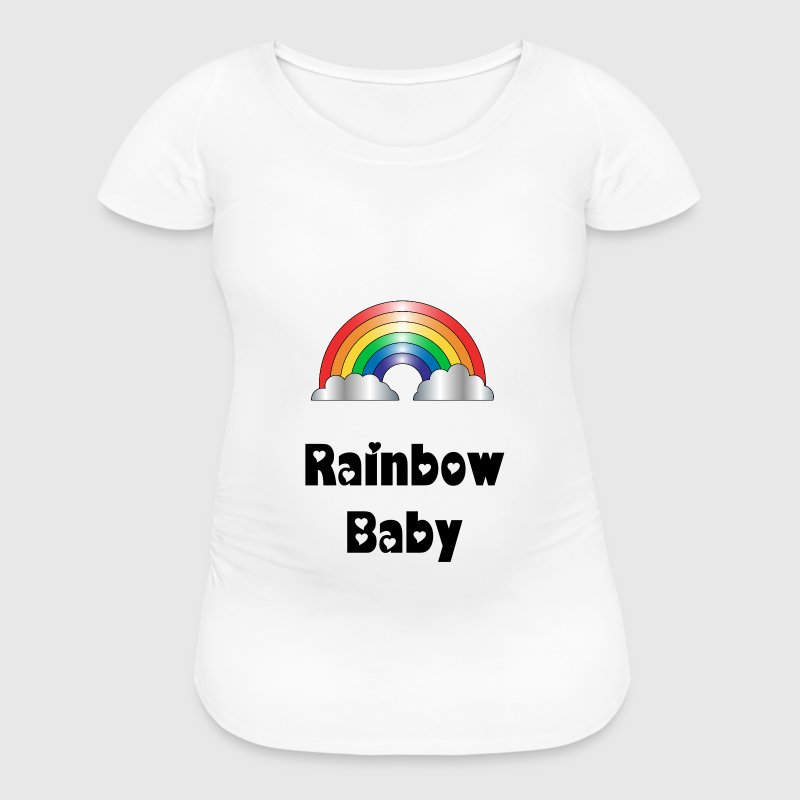 Maternity Rainbow T shirt - Women's Maternity T-Shirt