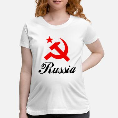 Sickle Russia Hammer and Sickle Design - Maternity T-Shirt
