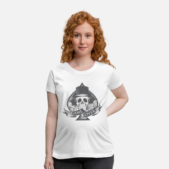 Groom T-Shirts - Game is from skull - Maternity T-Shirt white
