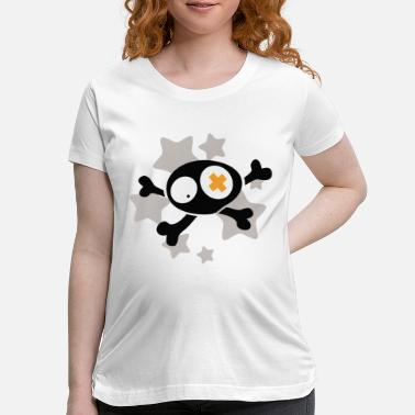 Asterisk Skull with asterisks - Maternity T-Shirt