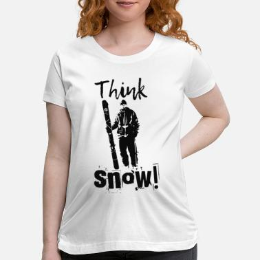 Santa Claus Vintage think snow ski design - Maternity T-Shirt