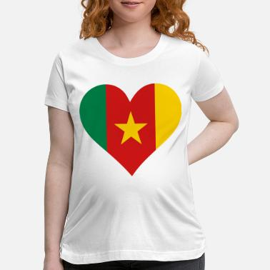 Cameroon A heart for Cameroon - Maternity T-Shirt