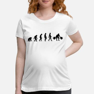 Weightlifting The Evolution of Weightlifting - Maternity T-Shirt